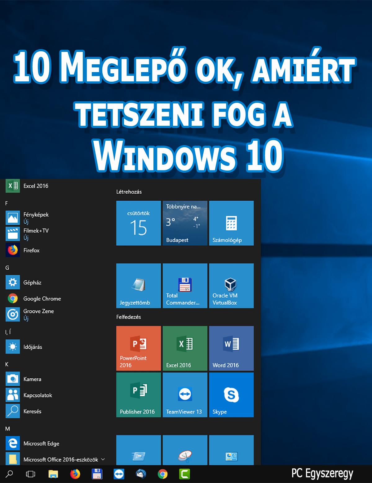 10 meglepő ok, amiért tetszeni fog a Windows 10 operációs rendszer e-könyv