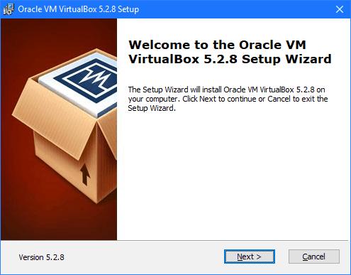 A VirtualBox telepítő
