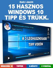 15 Windows 10 tipp és trükk
